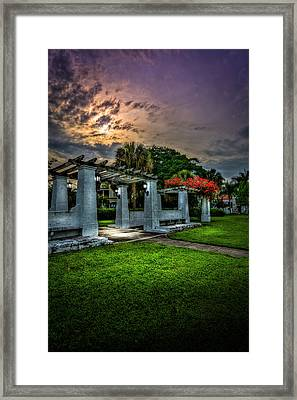 Arbor Sunset Framed Print