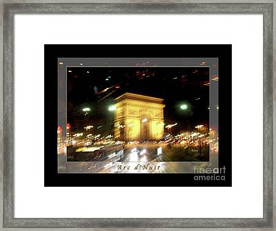 Arc De Triomphe By Bus Tour Greeting Card Poster V1 Framed Print by Felipe Adan Lerma