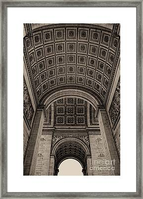 Arc De Triomphe Interior Framed Print
