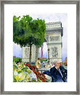 Arc De Triomphe Framed Print by John D Benson