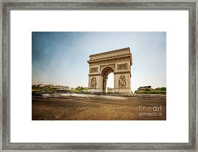 Framed Print featuring the photograph Arc De Triumph by Hannes Cmarits