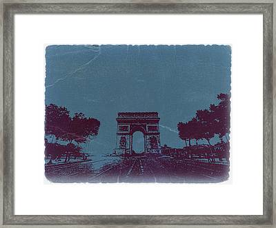 Arc De Triumph Framed Print by Naxart Studio
