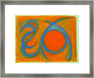 Arc Drawing 8 Framed Print by Ruth Sharton