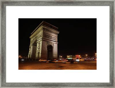 Arc Du Triomphe Paris Framed Print by Erik Tanghe