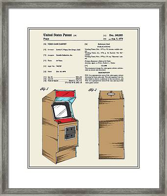 Arcade Game Patent Framed Print