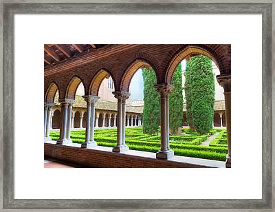 Arcade Insde Eglise Des Jacobins Or Church Of The Jacobins Framed Print