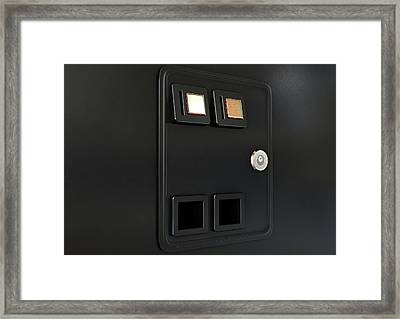 Arcade Machine Coin Slot Panel Framed Print by Allan Swart
