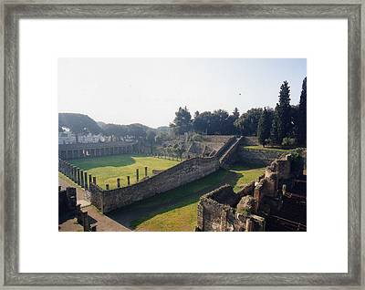 Arcaded Court Of The Gladiators Pompeii Framed Print by Marna Edwards Flavell