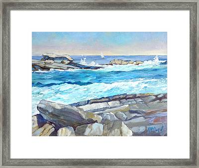 Arcadia Surf Framed Print by Michael McDougall