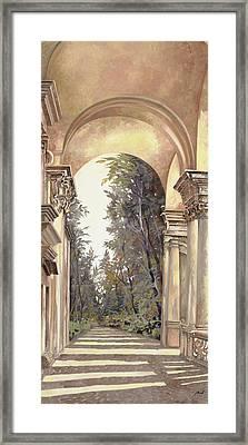 Arcate Prospettiche Framed Print