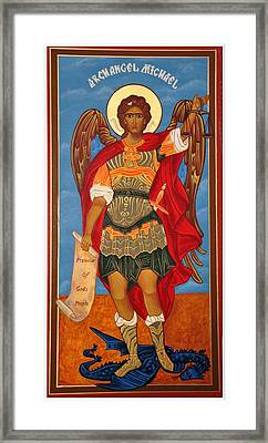 Arch Angel - St Michael Framed Print by Bill Cannon