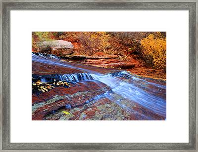 Arch Angel Falls In Zion Framed Print by Pierre Leclerc Photography