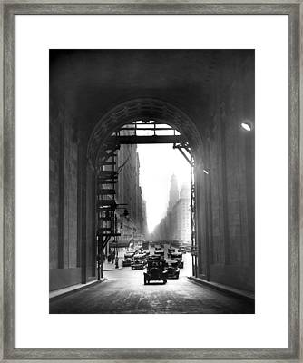 Arch At Grand Central Station Framed Print by Underwood Archives