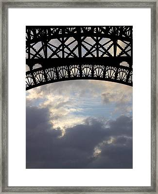Arch At The Eiffel Tower Framed Print by Heidi Hermes