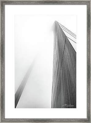 Arch In Fog Framed Print by Jae Mishra