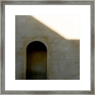 Arch In Shadow Framed Print by Dave Bowman