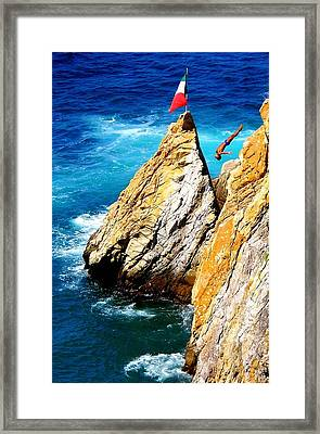 Arch Of A Diver Framed Print