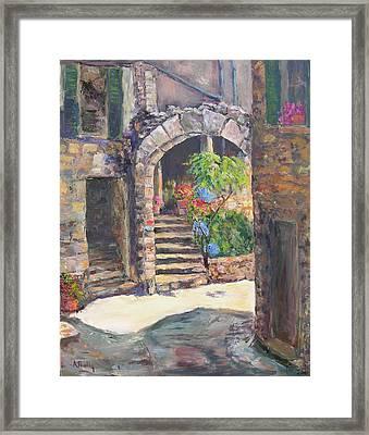 Arch Of Eze Framed Print by Albert Fendig