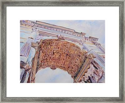 Arch Of Titus One Framed Print by Jenny Armitage