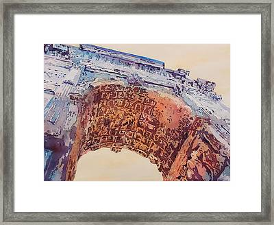 Arch Of Titus Two Framed Print by Jenny Armitage