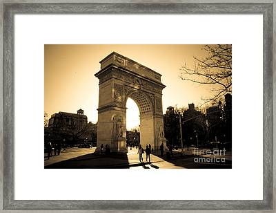 Arch Of Washington Framed Print by Joshua Francia