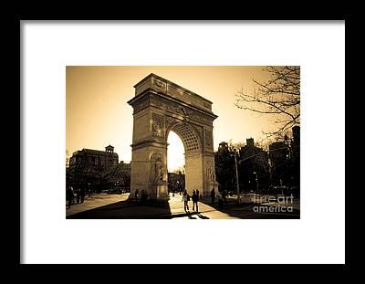 Washington Square Park Framed Prints