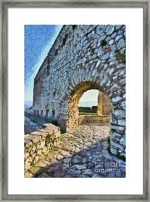 Arch On Palamidi Castle Framed Print by George Atsametakis