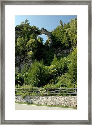 Framed Print featuring the photograph Arch Rock Mackinac Island by LeeAnn McLaneGoetz McLaneGoetzStudioLLCcom