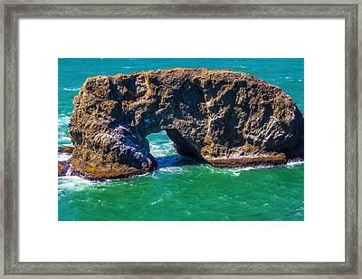 Arch Rock Oregon Framed Print by Garry Gay
