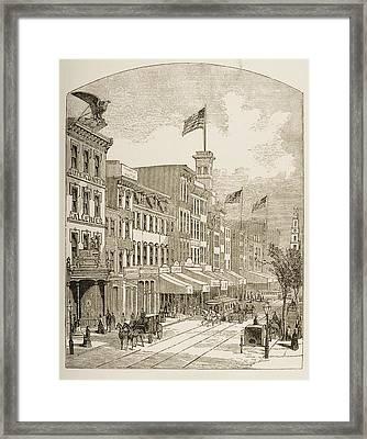 Arch Street Philadelphia Pennsylvania Framed Print by Vintage Design Pics