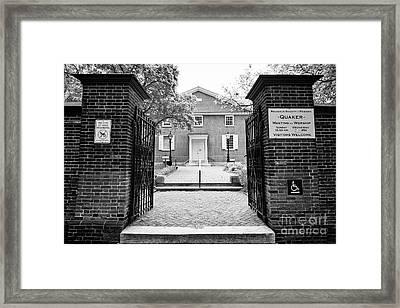arch street religious society of friends quaker meeting house Philadelphia USA Framed Print