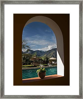 Arch View Framed Print