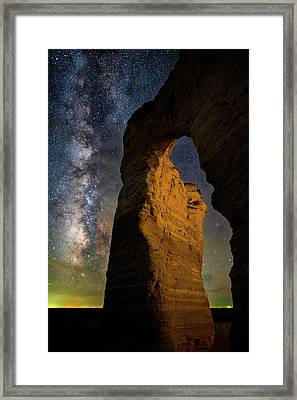 Arch Ways And Milky Ways Framed Print
