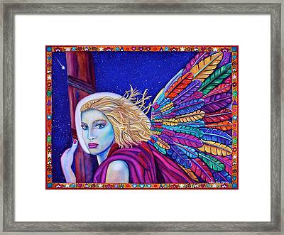 Framed Print featuring the painting Archangel Ariel by Lori Miller