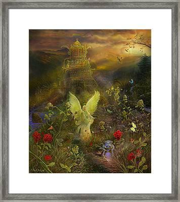 Archangel Chamuel-angel Tarot Card Framed Print