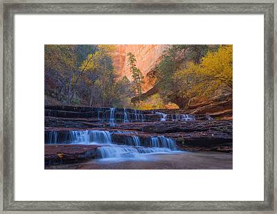 Framed Print featuring the photograph Archangel Falls In Autumn by Patricia Davidson