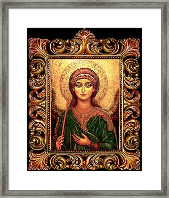 Archangel Gabriel Framed Print by Ananda Vdovic