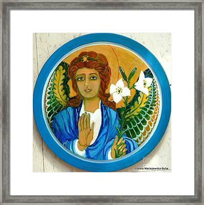 Archangel Gabriel Framed Print by Anna Folkartanna Maciejewska-Dyba