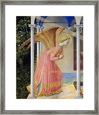 Archangel Gabriel Framed Print by Fra Angelico