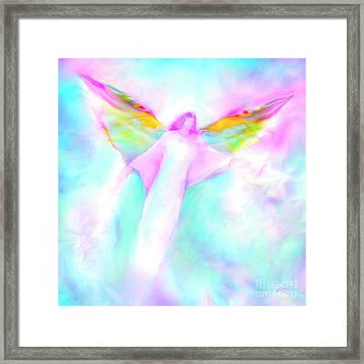 Archangel Gabriel In Flight Framed Print