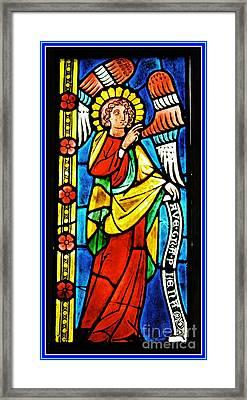 Archangel Gabriel Framed Print by Sarah Loft