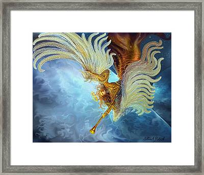 Framed Print featuring the painting Archangel Gabriel by Steve Roberts