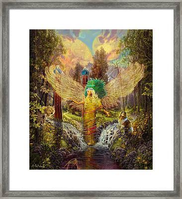 Archangel Haniel Framed Print by Steve Roberts