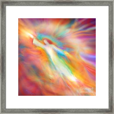 Archangel Jophiel Illuminating The Ethers Framed Print by Glenyss Bourne