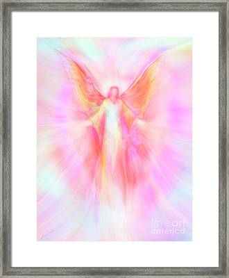 Archangel Metatron Reaching Out In Compassion Framed Print by Glenyss Bourne