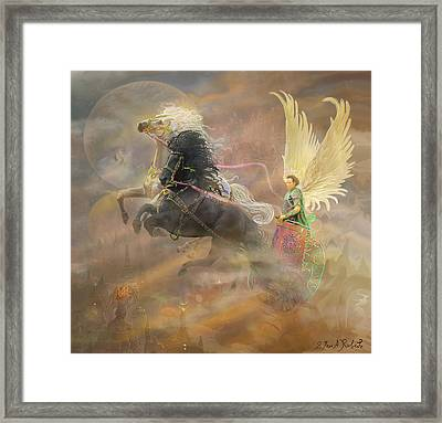 Archangel Metatron Framed Print by Steve Roberts