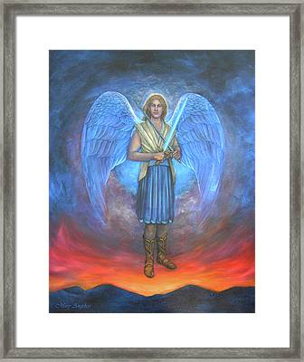 Archangel Michael Framed Print by Mary Angelico