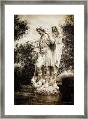Archangel Michael Slaying Dragon Framed Print