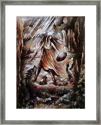 Archangel Framed Print by Rachel Christine Nowicki