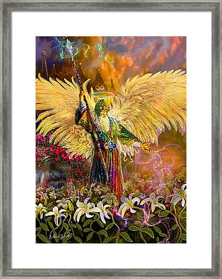 Archangel Raziel-angel Tarot Card Framed Print by Steve Roberts